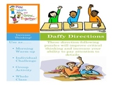 Daily Following Direction Activities: Daffy Directions Activity Pack # 1