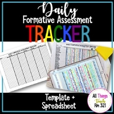 Daily Formative Assessment Tracker! ANY Class ANY Grade! Template + Spreadsheet