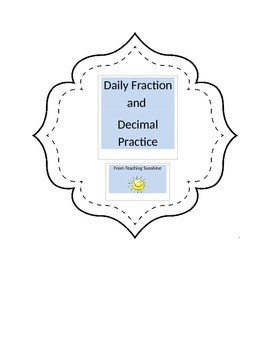 Daily Fraction and Decimal Practice