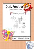 Daily Freebie- Christmas Crossword Activity
