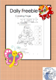 Daily Freebie - Chinese Color Words Santa coloring page (E