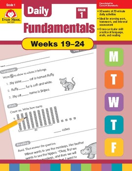 Daily Fundamentals Cross-Curricular Bundle, Grade 1, Weeks 19–24