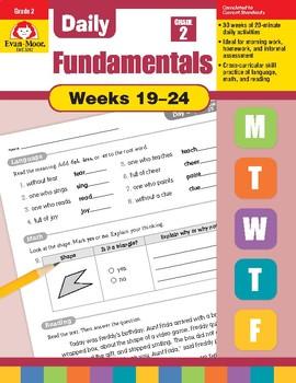 Daily Fundamentals Cross-Curricular Bundle, Grade 2, Weeks 19–24