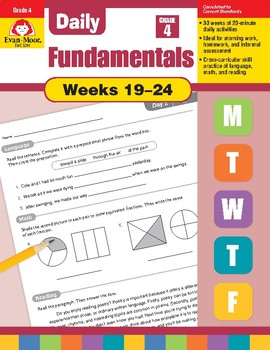 Daily Fundamentals Cross-Curricular Bundle, Grade 4, Weeks 19–24