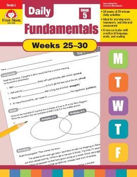 Daily Fundamentals Cross-Curricular Bundle, Grade 5, Weeks 25–30