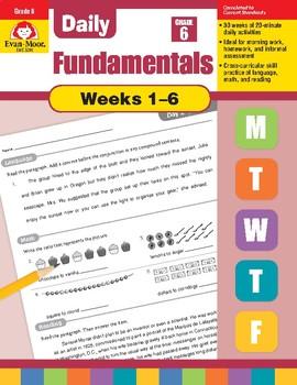 Daily Fundamentals Cross-Curricular Bundle, Grade 6, Weeks 1-6