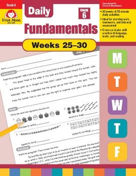 Daily Fundamentals Cross-Curricular Bundle, Grade 6, Weeks 25–30