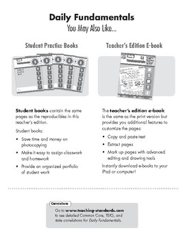 Daily Fundamentals, Grade 6, Teacher's Edition, E-book