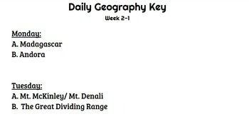 Daily Geography Month 2