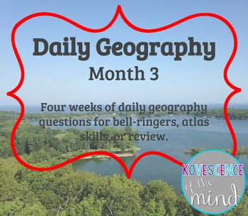 Daily Geography Month 3
