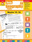 Daily Geography Practice, Grade 1, Weeks 13–18