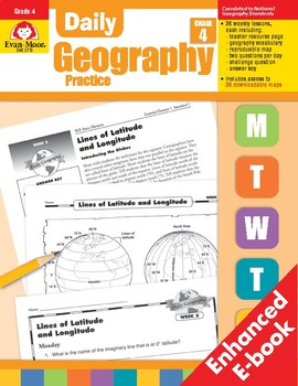 Daily Geography Practice, Grade 4