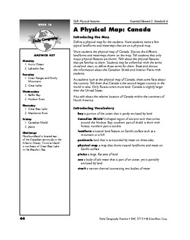 Daily Geography Practice, Grade 4, Weeks 13–18