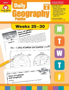 Daily Geography Practice, Grade 4, Weeks 25–30