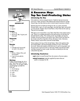 Daily Geography Practice, Grade 4, Weeks 31–36