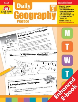 Daily Geography Practice, Grade 5
