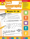 Daily Geography Practice, Grade 5, Weeks 31–36