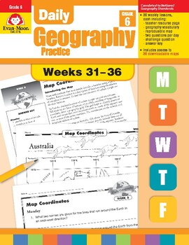 Daily Geography Practice, Grade 6, Weeks 31–36