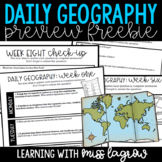 Daily Geography or Social Studies Map Skills: FREEBIE