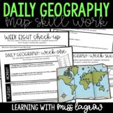 Daily Geography or Social Studies Map Skills GROWING BUNDLE