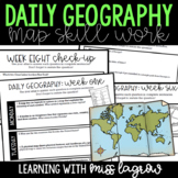 Daily Geography or Social Studies Map Skills FULL YEAR Bundle