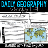 Daily Geography or Social Studies Map Skills: Weeks 1 - 9