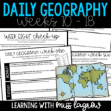Daily Geography or Social Studies Map Skills: Weeks 10 - 18