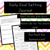 Daily Goal Setting Journal - Year Long - Print and Go