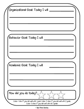 Daily Goal Setting Notebook for Students