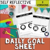 Daily Goal Setting Sheet for Students
