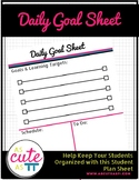 Daily Goal Sheet for Students