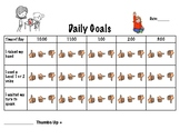 Daily Goals/Chart for Student - Voice Volume