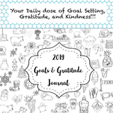 Daily Goals and Gratitude Journal & Monthly Calendar