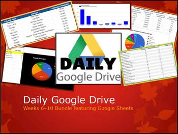 Daily Google Drive: Week 6 - 10 Bundle Google Sheets