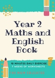 Daily Grade 2 Maths and English Revision Book