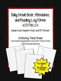Daily Gradebook Record, Attendance, Reading Log Forms Beginning of the Year