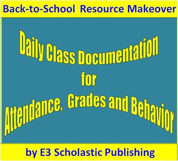 Daily Grades and Behavior Management Spreadsheet - Back-to-School Makeover