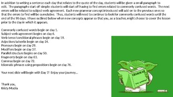 Daily Grammar Activities