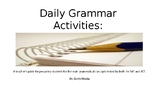 Daily Grammar Activities