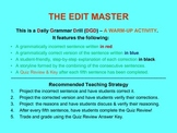 CCSS: Daily Grammar Drill & Warm-Up! 50-Day Power Point!