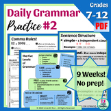 Daily Grammar Practice #2 Bell Ringers for Middle School