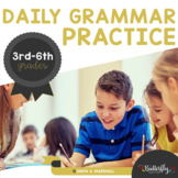 Daily Grammar Practice with Editable, Spiraled Worksheets