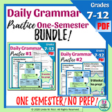 Daily Grammar Practice Bellringers for Middle School One Semester Bundle!