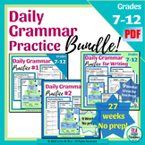 Daily Grammar Practice Bellringers for Middle School Bundle!