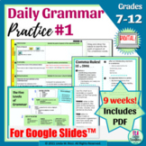 Daily Grammar Practice for Google Slides