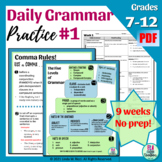 Daily Grammar Practice Bell Ringers for Middle School