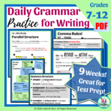 Daily Grammar Practice Bell Ringers for Middle School: Focus on Formal Writing