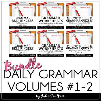 Ten-Minute Grammar, Daily Grammar Program MEGA Bundle, FULL YEAR 36 Weeks