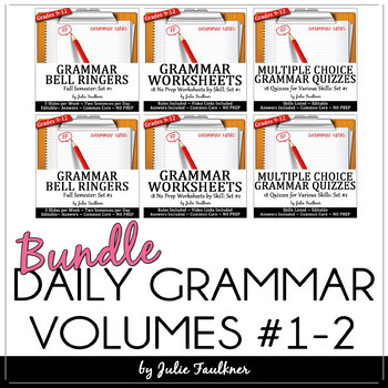 Grammar MEGA Bundle, Ten-Minute Daily ACT Prep, FULL YEAR Curriculum