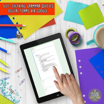 Grammar Program BUNDLE, Ten-Minute Daily Practice, FULL YEAR, Distance Learning